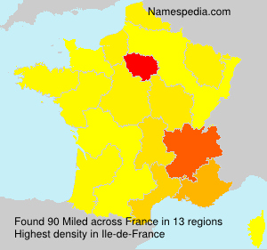 Surname Miled in France