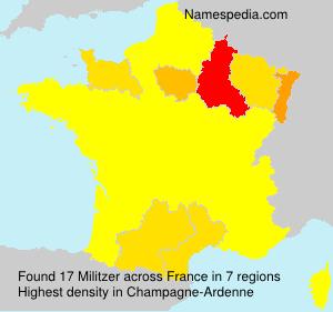 Familiennamen Militzer - France
