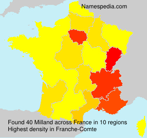 Surname Milland in France