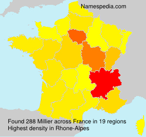 Surname Millier in France