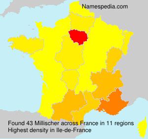 Familiennamen Millischer - France