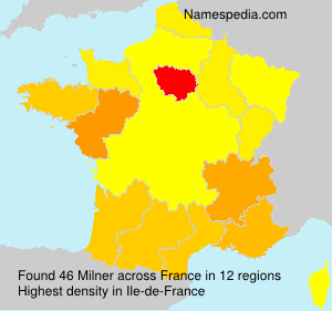 Surname Milner in France