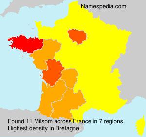 Surname Milsom in France