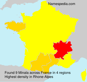 Familiennamen Minala - France