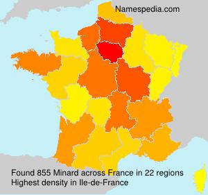 Familiennamen Minard - France