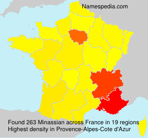 Surname Minassian in France