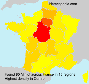Surname Miniot in France