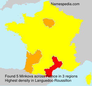 Surname Minkova in France