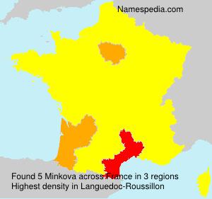 Surname Minkova in France