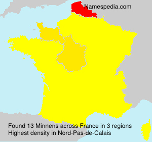 Surname Minnens in France