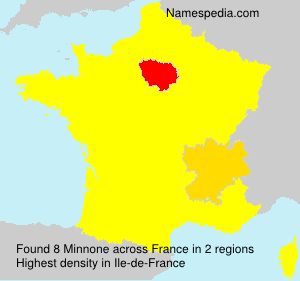Surname Minnone in France