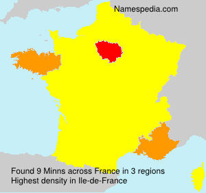 Surname Minns in France