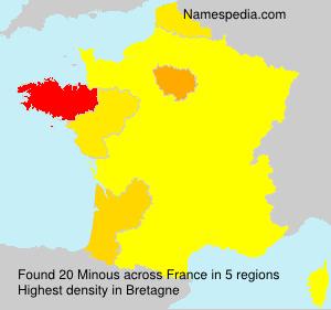 Familiennamen Minous - France