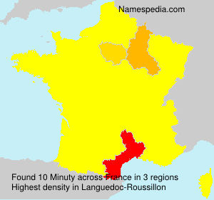 Familiennamen Minuty - France