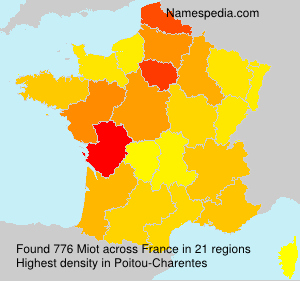 Familiennamen Miot - France
