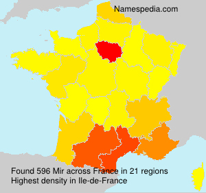 Surname Mir in France