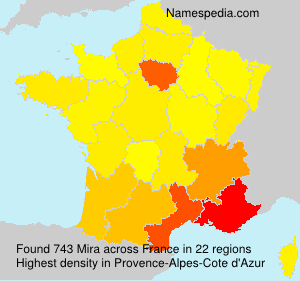 Surname Mira in France