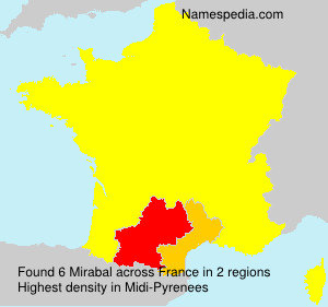 Surname Mirabal in France