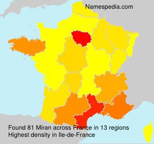 Surname Miran in France