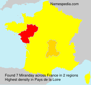 Surname Miranday in France