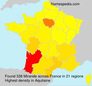 Surname Mirande in France