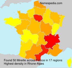 Surname Mireille in France