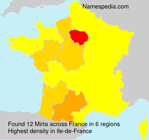 Surname Mirta in France
