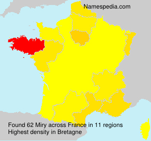 Surname Miry in France