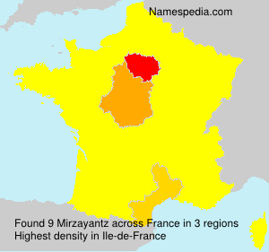 Surname Mirzayantz in France