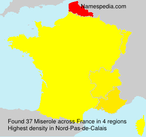 Surname Miserole in France