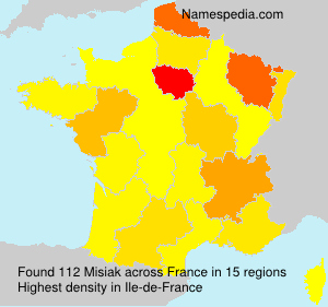 Surname Misiak in France