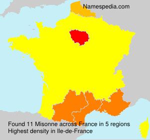 Surname Misonne in France
