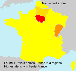 Surname Misut in France