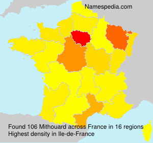 Surname Mithouard in France