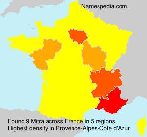 Surname Mitra in France