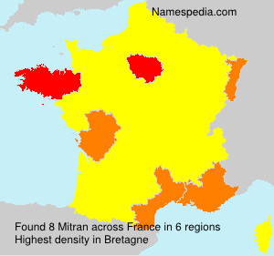 Surname Mitran in France