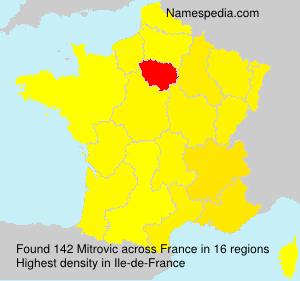 Surname Mitrovic in France