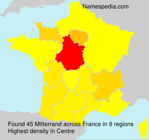 Surname Mitterrand in France