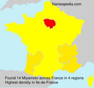 Surname Miyamoto in France