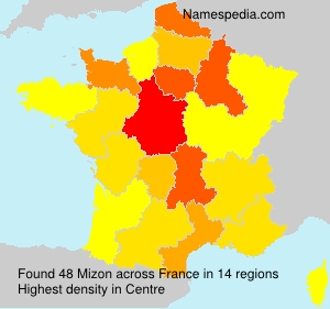 Surname Mizon in France