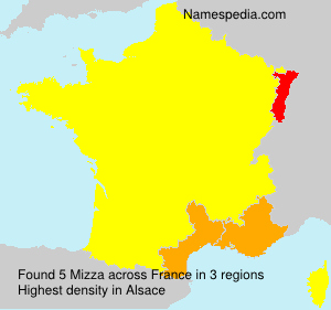 Surname Mizza in France