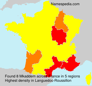 Surname Mkaddem in France
