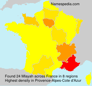 Surname Mlayah in France