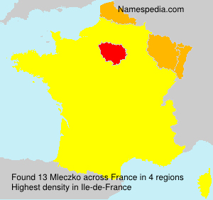 Surname Mleczko in France