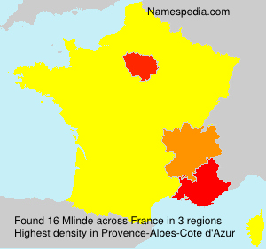 Surname Mlinde in France