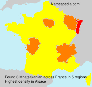 Surname Mnatsakanian in France