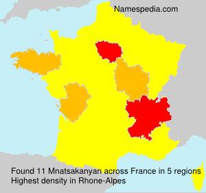 Surname Mnatsakanyan in France