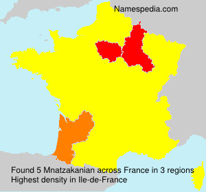 Surname Mnatzakanian in France