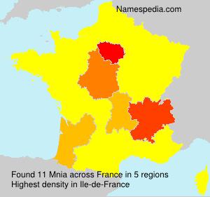 Surname Mnia in France