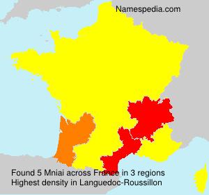Surname Mniai in France